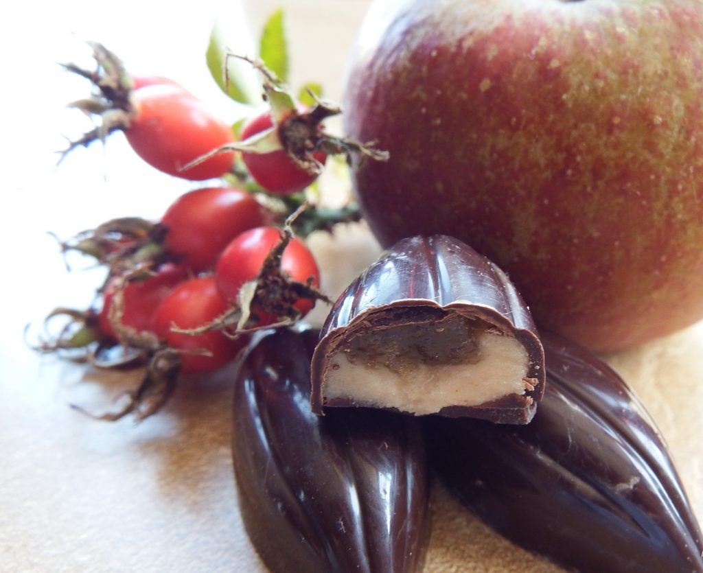 rosehip and apple truffles